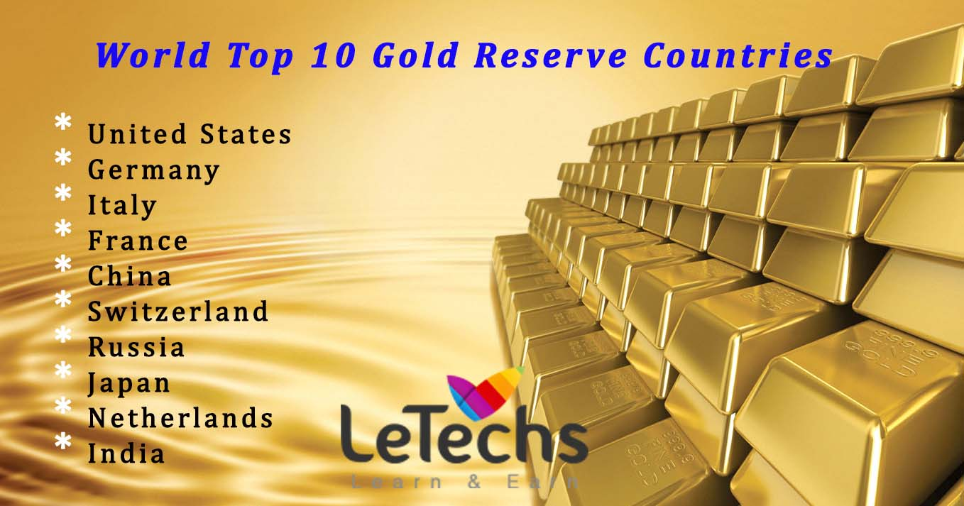 LeTechs Forex Blog Top Most Gold Reserve Countries In World - 10 countries with the largest gold reserves